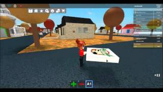 Playing roblox work at pizza place pt 1