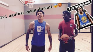 1V1 AGAINST KEVIN Durant **I dunked on him***