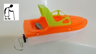Bargain Store Project - Toy Boat rubber band conversion