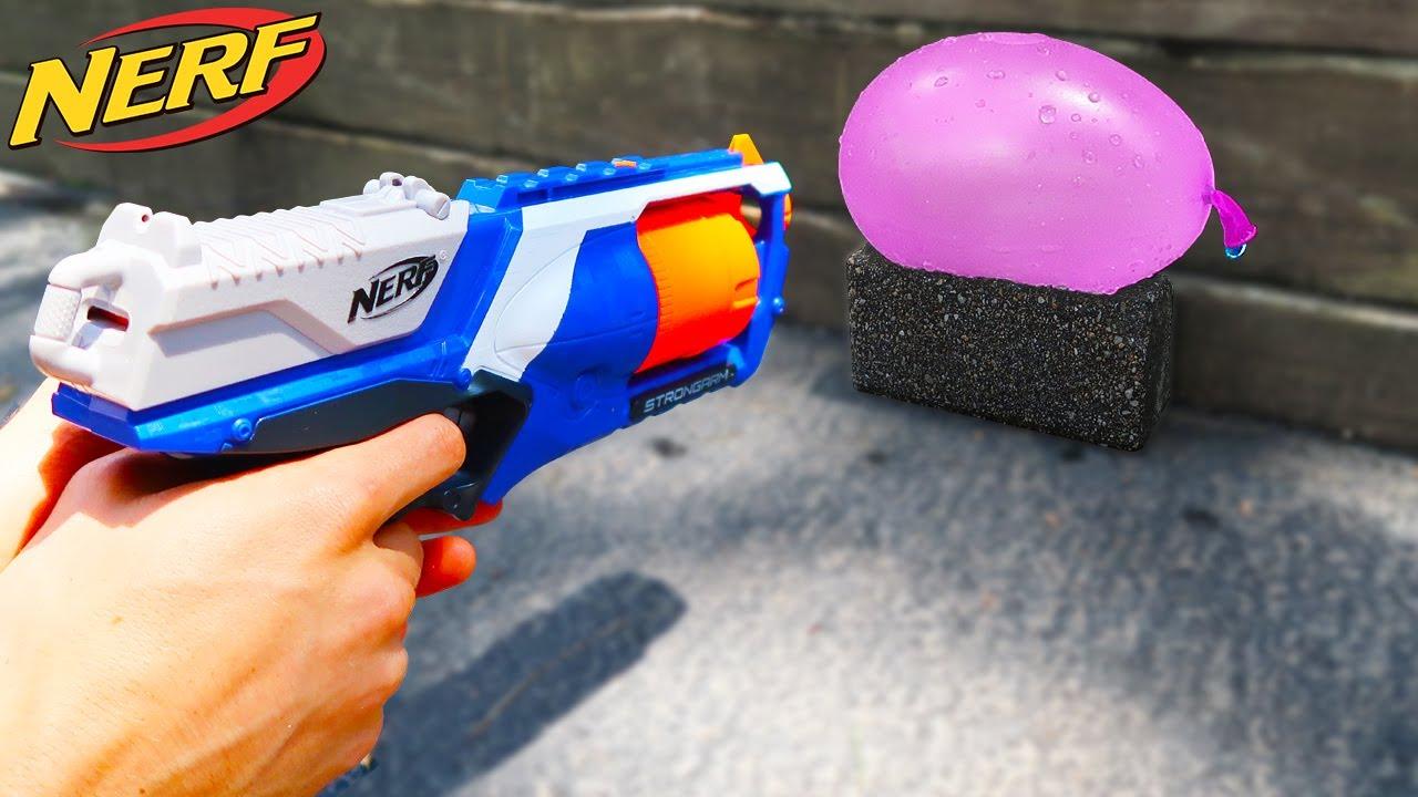 Nerf Vs Water Balloon Youtube