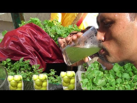 Pudina Lemon Cold Water Drink in Kolkata Street | Indian Street Food | Healthy Summer Drink