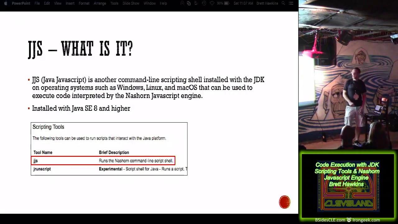 B01 Code Execution with JDK Scripting Tools Nashorn Javascript Engine Brett  Hawkins