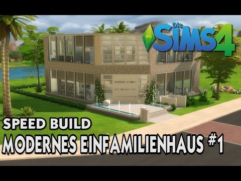 Sims 4 Modernes Einfamilienhaus [1/2] | Speed Build #1