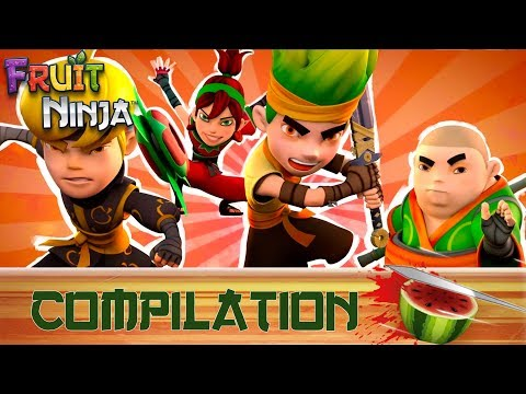 Fruit Ninja Origins | All Shorts Episodes Mashup