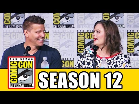 BONES Season 12 Comic Con Panel Part 1 Emily Deschanel, David Boreanaz, TJ Thyne, Michaela Conlin