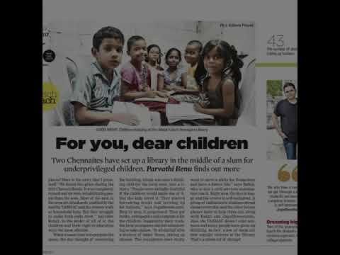 Our Padikuppam slum library project on vijay TV on 14.1.2018