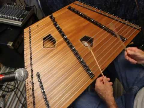 Two tunes on 17/16/8 Warbler Ultimate Mahogany Hammered Dulcimer-Songbird