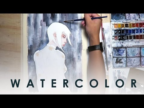 WATERCOLOR - Ghost in the Shell