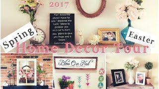Easter & Spring Home Decor Tour   Shabby Chic Farmhouse  momma From Scratch