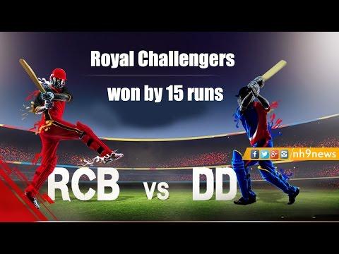 IPL 2017 : Royal Challengers Bangalore Vs Delhi Daredevils Highlights| RCB Won By 15 Runs | NH9 News