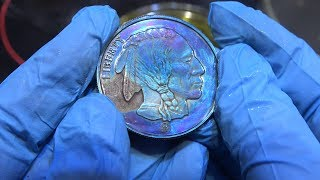 Toning Silver Coins by Anodization (fixed)