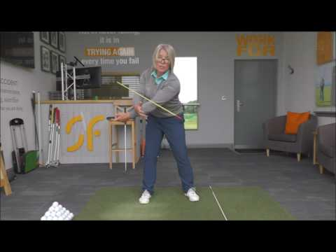 Golf swing arm rotation, part 1. Correct golf swing take away body and arm movement