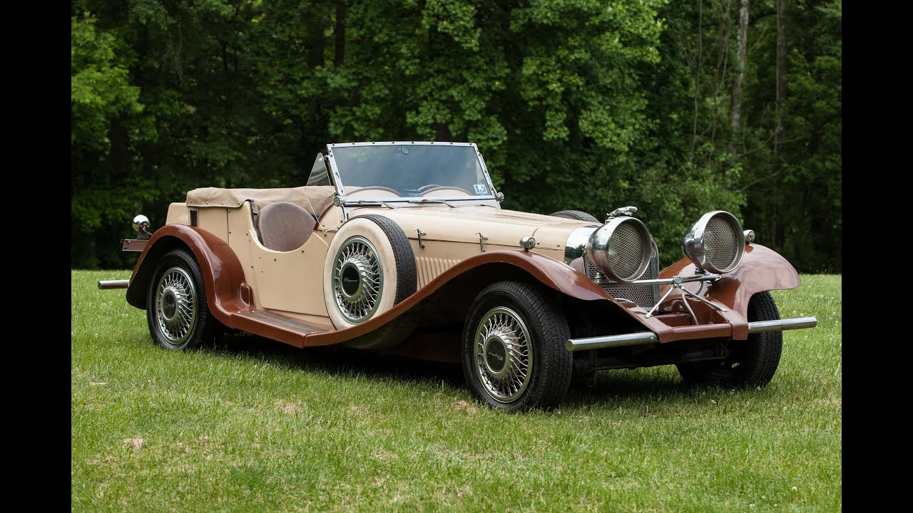 Auction: 1937 Jaguar SS-100 Replica Clic Car - YouTube