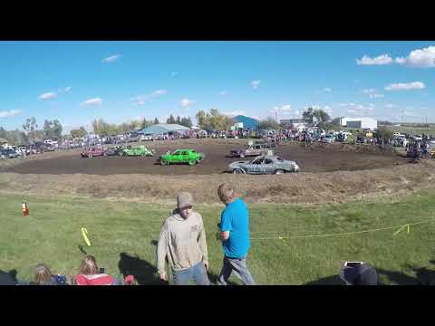 9-30-2017 Dwight Edinger comes out of retirement!!  Elgin, ND chain n bang heat 1