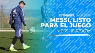 Messi ya está listo para enfrentar a Venezuela con la Selección Argentina
