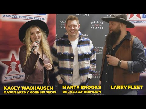 92.3 WIL interview with Larry Fleet at Hot Country Nights