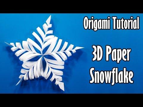 Origami Tutorial 3d Paper Snowflake