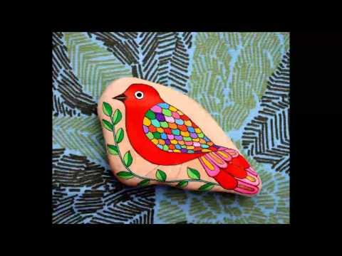 Pinted stones -Bird Story by Sehnaz BAC / Making of my birds on stones