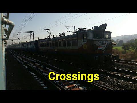 Indian Railways Train Journey: #crossings