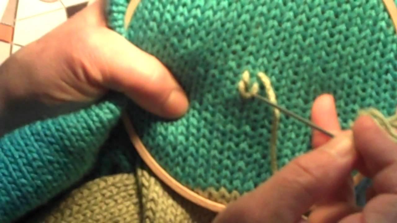 comment tricoter jacquard video