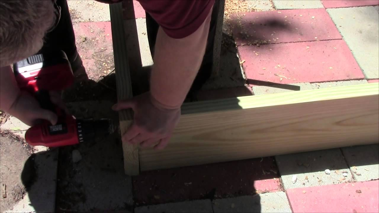How to build a raised bed garden frame with pressure - Pressure treated wood for garden beds ...