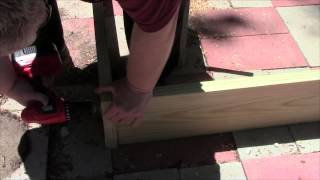 How To Build A Raised Bed Garden Frame With Pressure Treated Lumber.