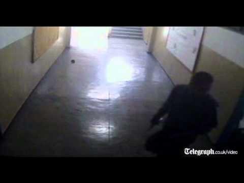 Brazil school shooting: gunman captured on CCTV