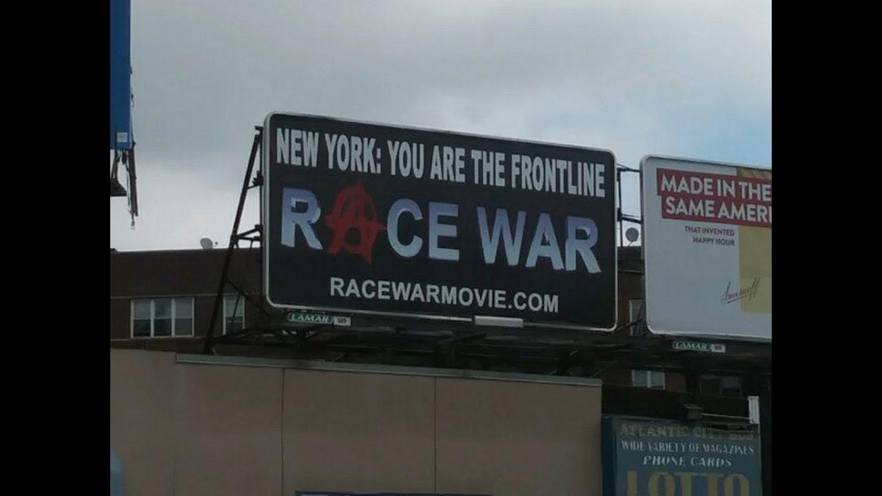 Race War: Flatbush Ave and Norstrand Billboard