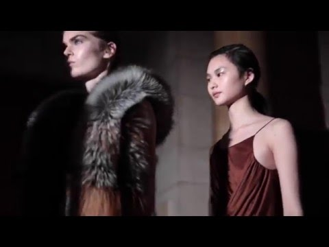 Yiqing Yin interview by Saga Furs at Haute Couture Spring/Summer 2016