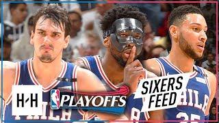 Joel Embiid, Ben Simmons & Dario Saric Full Game 3 Highlights vs Heat 2018 Playoffs - TOO GOOD!