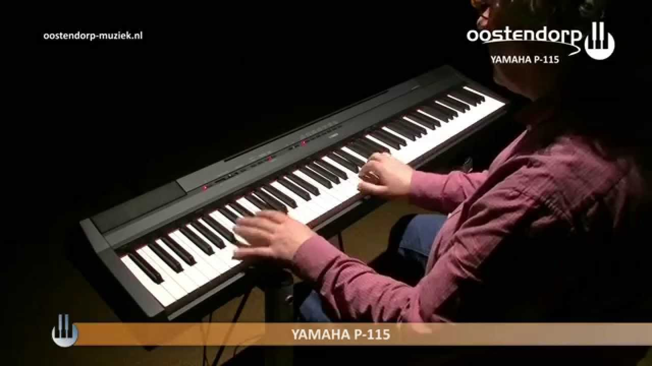 yamaha p 115 digitale piano sounddemo youtube. Black Bedroom Furniture Sets. Home Design Ideas