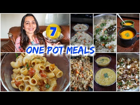 7 Indian Meals in One Pot Meal | Indian Lunch / Dinner / Snack ideas
