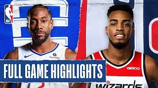 CLIPPERS at WIZARDS | FULL GAME HIGHLIGHTS | December 8, 2019 Video