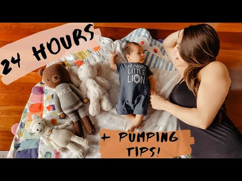 DAY IN THE LIFE WITH A NEWBORN | PUMPING TIPS