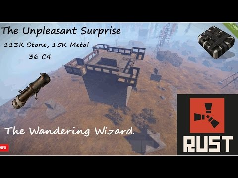 The Unpleasant Surprise: 113K Stone, 15K Metal, 36 C4 Rust Base (Grief Resistant)