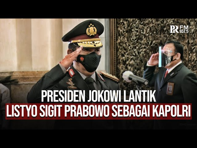 Presiden Jokowi Lantik Listyo Sigit Prabowo Sebagai Kapolri Gantikan Idham Azis