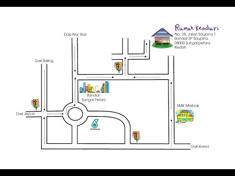 VIDEO TUTORIAL 10 : LUKIS MAP LOKASI MAJLIS GUNA POWERPOINT