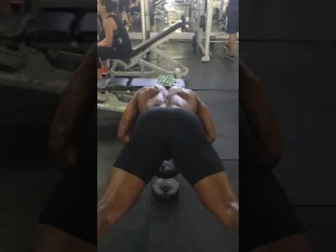 Single DB Close Grip Triceps Push Ups Featuring Fitness and Physique Phenom Glenn Arthur