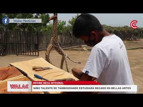 Niño talento de Tambogrande estudiará becado en bellas artes