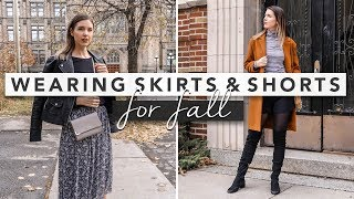 Style Guide: How to Wear Shorts and Skirts for Fall | by Erin Elizabeth