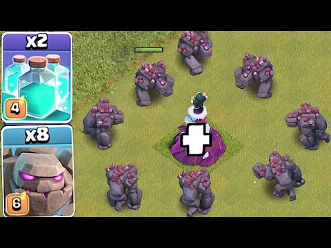 TRY TO STOP 10 GOLEMS!!