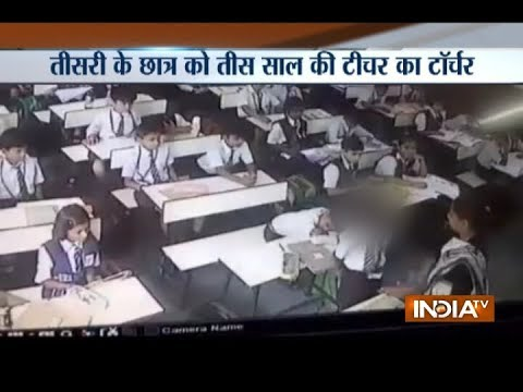 Lucknow: School teacher thrashes kid for not responding during attendance session in the class