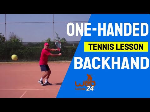 tennis lesson: one handed backhand (progression drills)