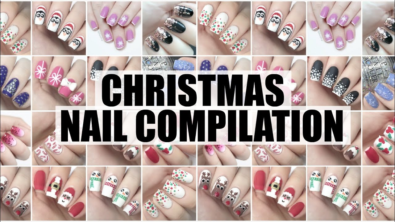 Christmas nail art compilation 2015 the nail trail youtube sciox Image collections