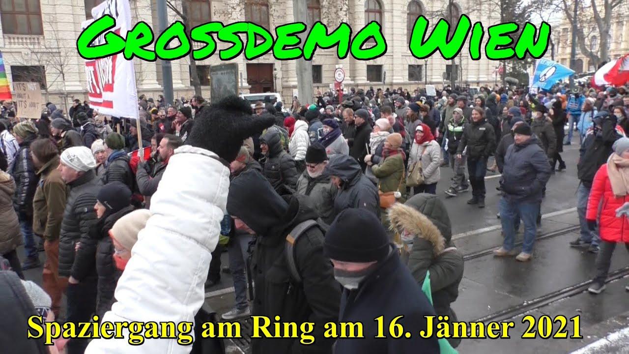 GROSSDEMO WIEN: 10.000e MENSCHEN bei Spaziergang am Ring