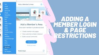 Adding A Member Login And Page Restrictions In Wix | Wix.com Tutorial