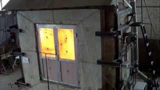 Испытание двупольной противопожарной двери ЗАО