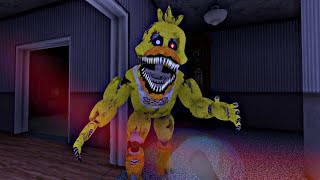 NIGHTMARE CHICA & NIGHTMARE BONNIE DAN ESCALOFRÍOS - Five Nights at Freddy's 4 Doom Mod (FNAF Game)