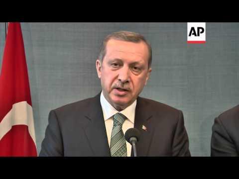 Turkish Prime Minister Erdogan meets Dutch counterpart
