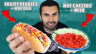 WEIRD Food Combinations People LOVE! (EATING GROSS FOOD)